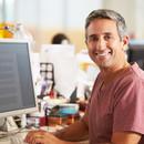 Man Working at Desk