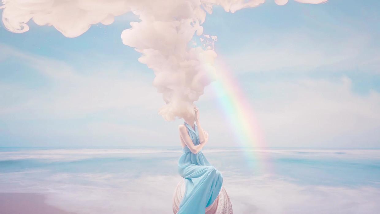Rauch und Regenbogen