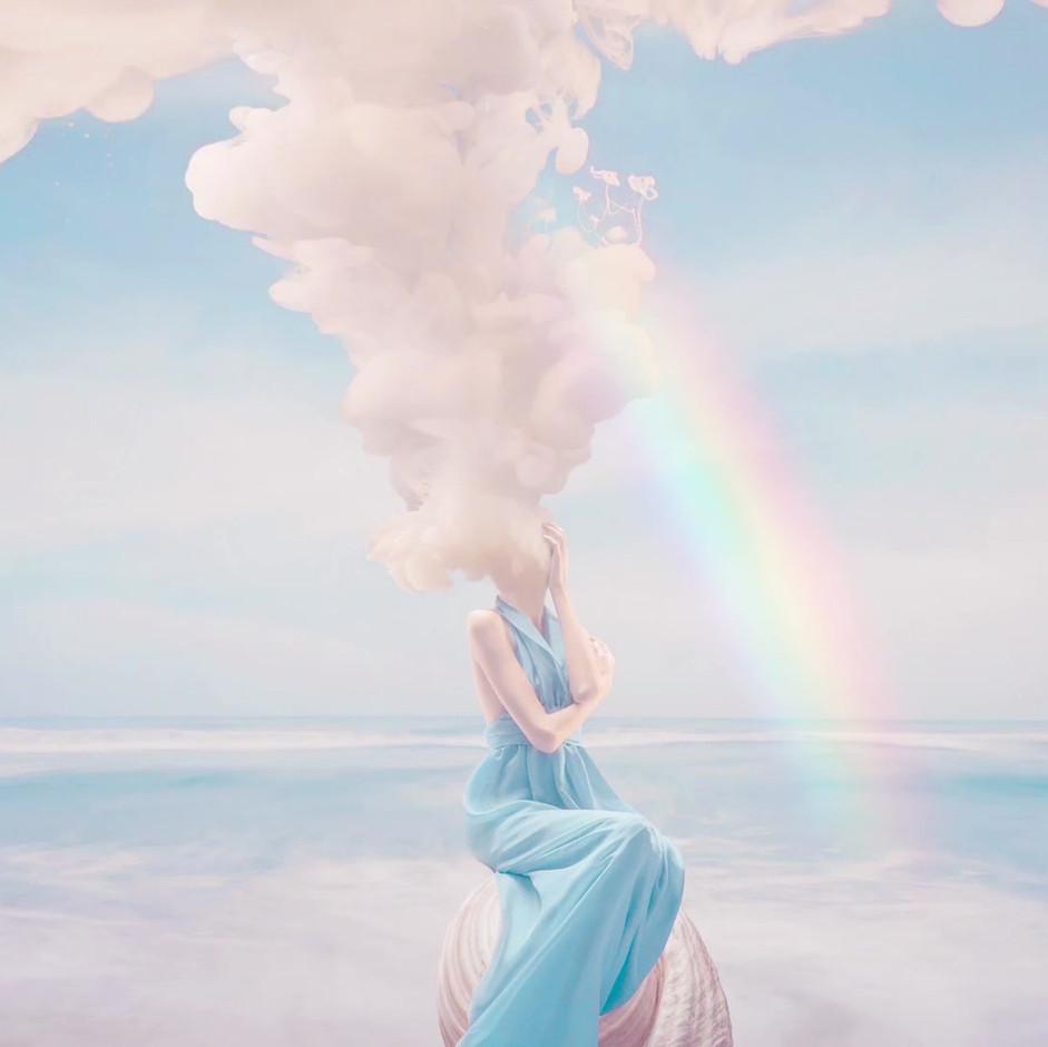 Humo y arcoiris