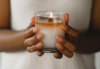 Candle in Hands