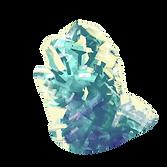 Türkisfarbener Kristallfelsen