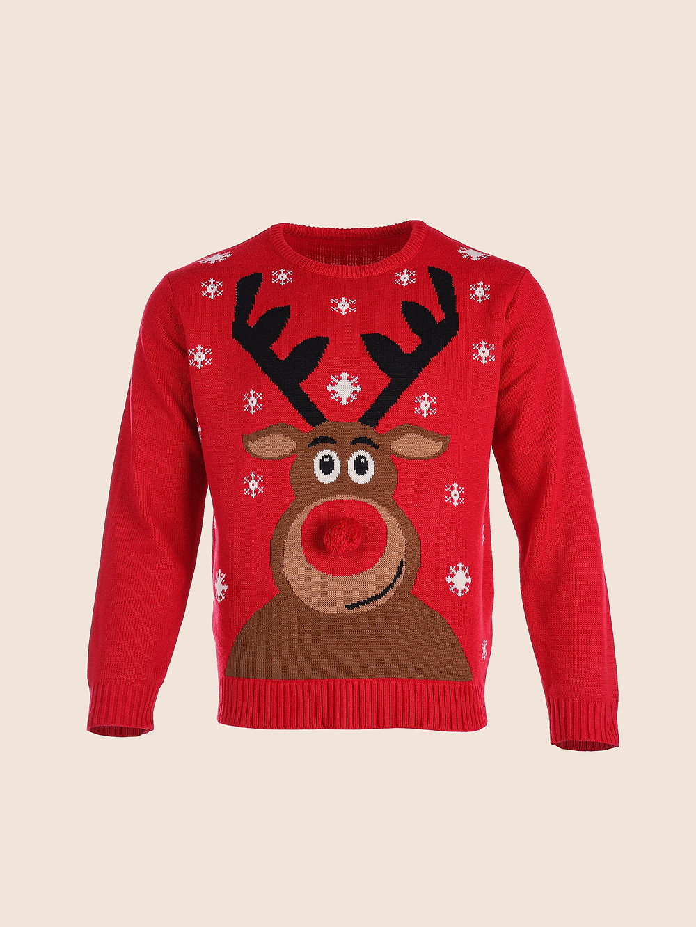 an ugly Christmas sweater