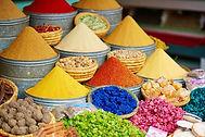 Gewürze auf dem marokkanischen Markt