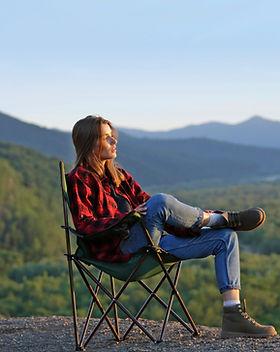 Girl watching nature