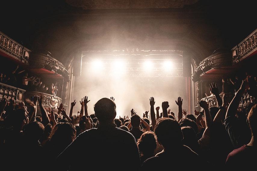 Staan tijdens een concert