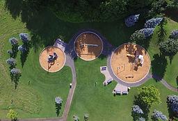 Luftaufnahme des Spielplatzes