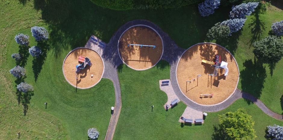 Aerial View of Playground