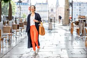 Woman Walking Around