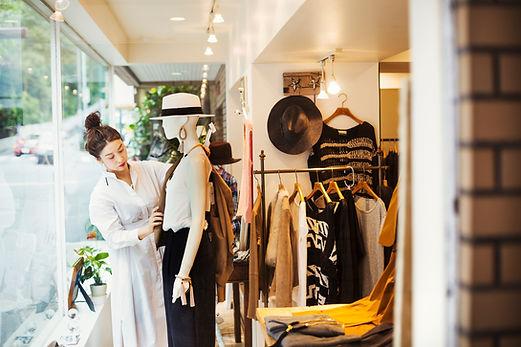 Affichage de la boutique de mode