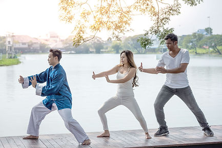Tai Chi Practice on the Waterfront