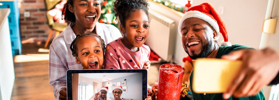 Appel vidéo familial