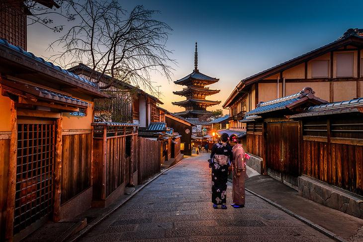 Pequeña calle en Japón