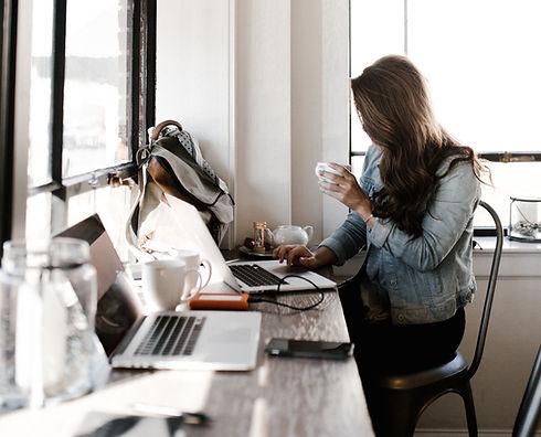 Trabalhando do café