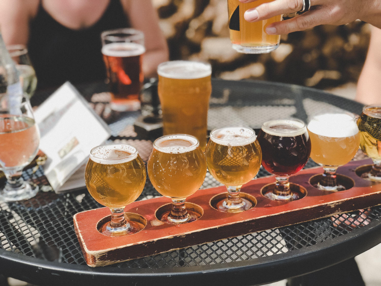 Beer tasting tour brewery brews Virginia countryside