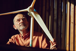 Wind Turbine Engineer representative of the new skills needed for in an alternative energy future.