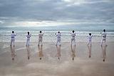 Karate por el mar