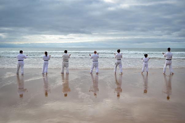 Karate am Meer