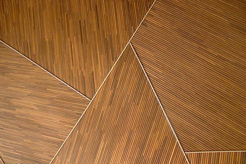Geometric Wood Pattern