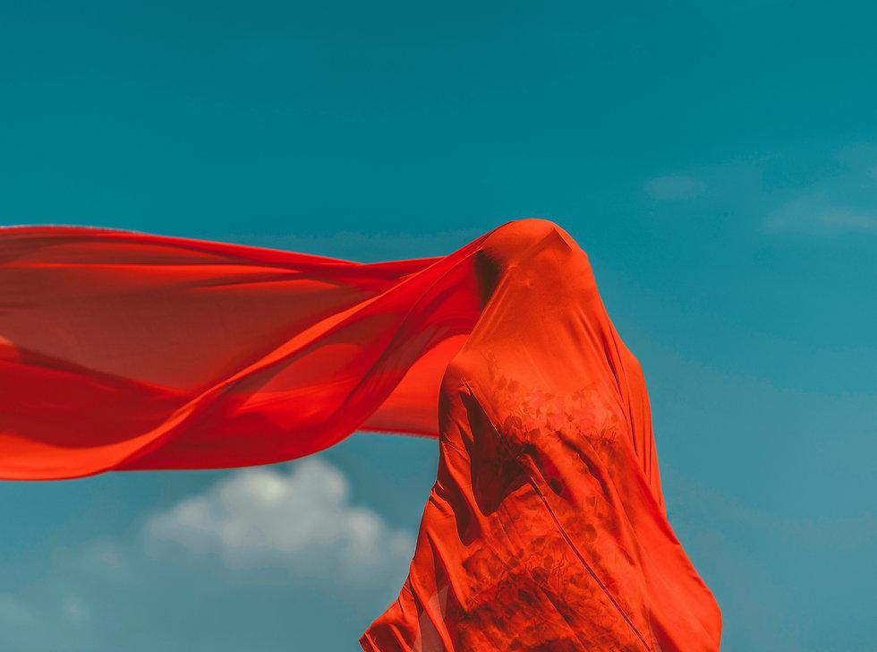 Cachecol vermelho