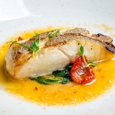 Cod in tomato broth