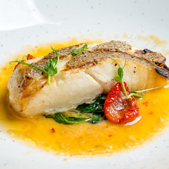 Cod in tomato broth