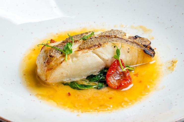 Filet de poisson plaqué