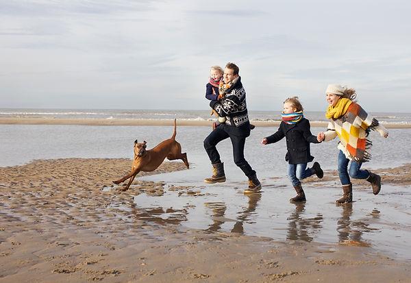 Journée familiale à la plage