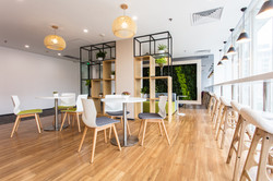 interior of modern office with custom office furniture