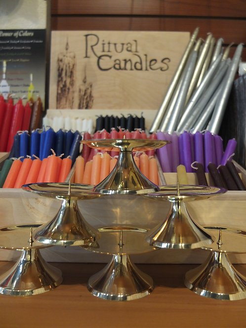 Candle Holders, Large and Small