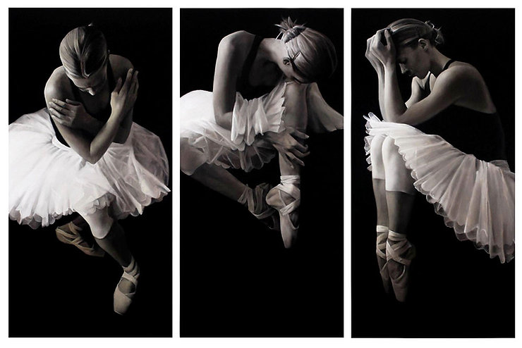 ZEKOFF BALLET I, II, III  / oil on canvas / triptych / 2014