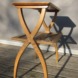 Table desserte 1960 treillis laiton