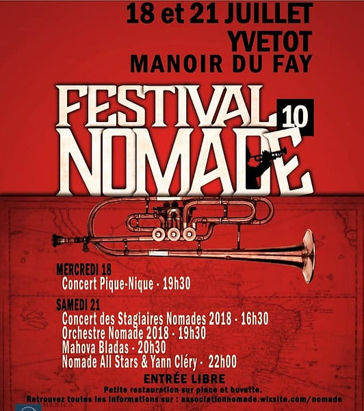 Affiche festival Nomade 2018 - Musiques d'Amérique du Sud et des Caraïbes
