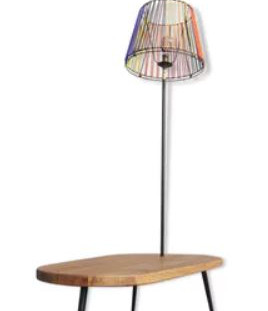 Table lampadaire surf scoubidous 1950