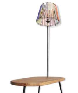 Table lampadaire surf scoubidous 1950