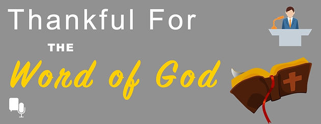 lesson outline: Thankful For God's Word   SimplyRevised