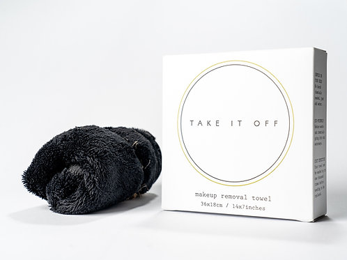 Take it off Towel Black