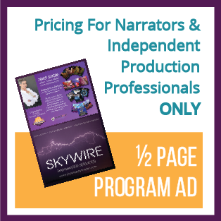 1/2 Page Program Ad (ONLY for Narrators & Indie Professionals)