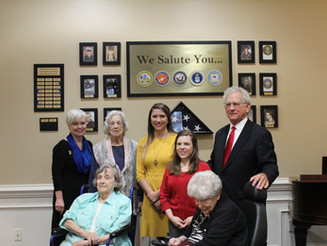 Kimbrough Law Dedicates Veterans' Wall at Gardens of Gainesville