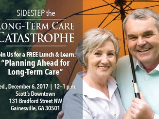 Learn How to Plan for Long-Term Care at Free Lunch & Learn Program on Dec. 6 in Gainesville