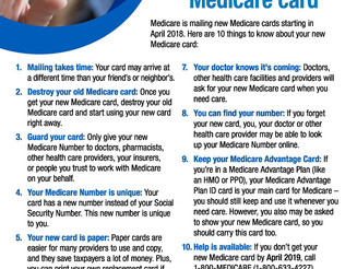 Medicare Issues New Cards; Beware of Scams