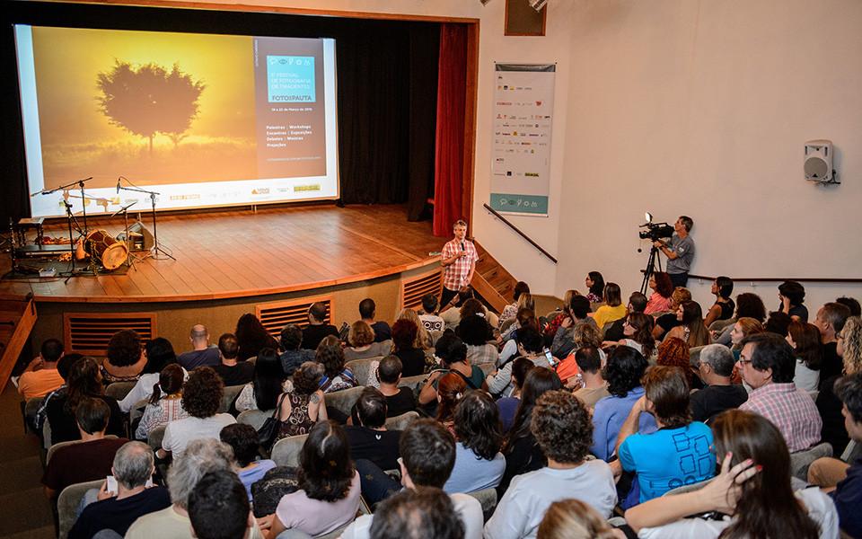 Eugenio Savio na Abertura do 5º Festival de Fotografia de Tiradentes Foto em Pauta (Foto Nereu JR)