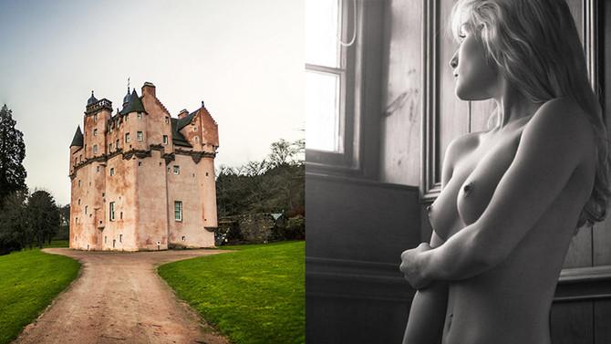 Fotógrafos fazem ensaio de nu dentro de castelo escocês do século XVII