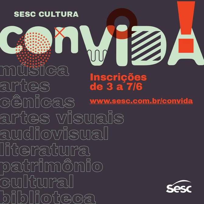 Inscrições Abertas para Artistas no Sesc Cultural