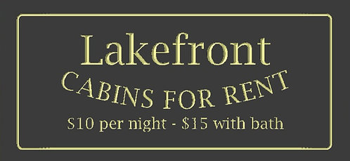 Lakefront Cabins for Rent
