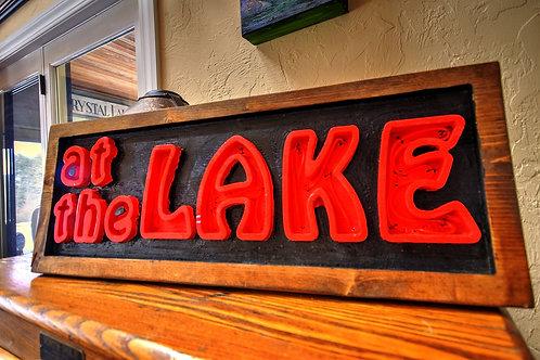 At The Lake Neon Sign