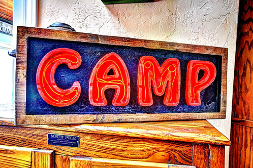 Camp Neon Sign