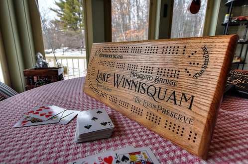 Lake Winnisquam Cribbage Board