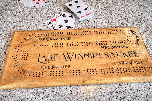 Lake Winnipesaukee Cribbage Board