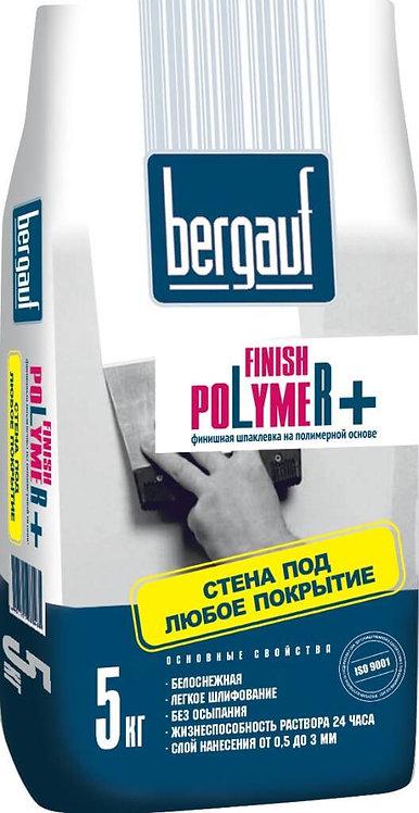Шпаклевка Бергауф Финиш Полимер для сухих помещений белая, 5кг