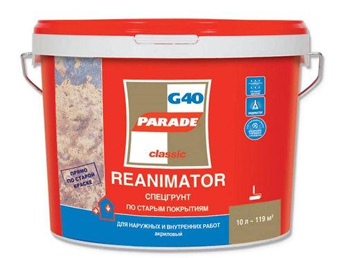 Спецгрунт G40 Reanimator 10л по ст.покрытиям Парад (1шт/уп, 44шт/палл)